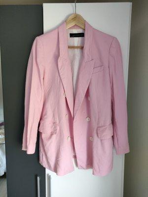 Zara Blazer en jersey rose clair-rose