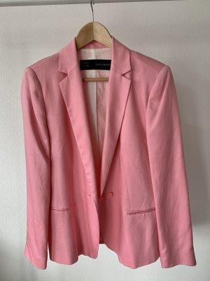 ZARA Blazer Rosa aus Baumwolle Gr. L Neu mit Etikett
