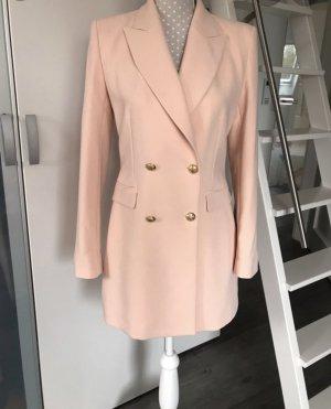 Zara Blazer rosa S Longblazer Minikleid