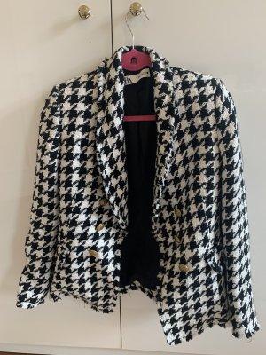 Zara Blazer Tweed negro-blanco