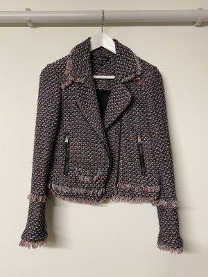 Trf by Zara Blazer en tweed noir-rouge