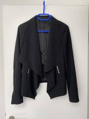 ZARA Blazer Schwarz mit Zipper Taschen