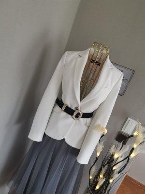 Zara Blazer unisex bianco-argento