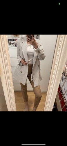 Zara Boyfriend blazer wit-lichtbruin