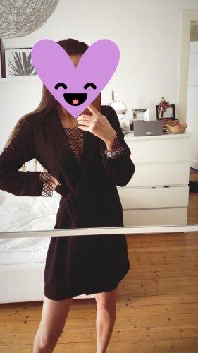 ZARA Blazerkleid Netz Schwarz Blazer Top Dress
