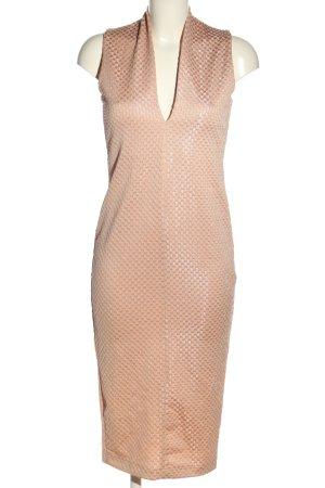 Zara Bleistiftkleid pink Allover-Druck Casual-Look