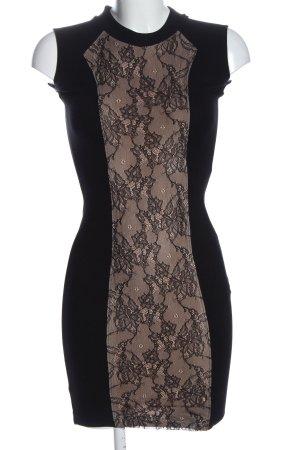 Zara Bleistiftkleid schwarz-nude Casual-Look