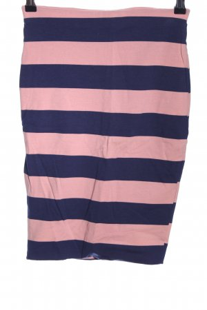 Zara Pencil Skirt pink-blue striped pattern casual look