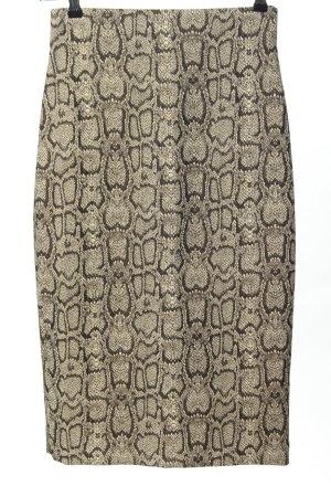 Zara Falda de tubo blanco puro-marrón look casual