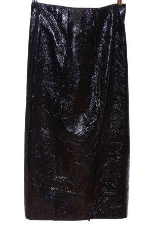Zara Faux Leather Skirt black animal pattern casual look