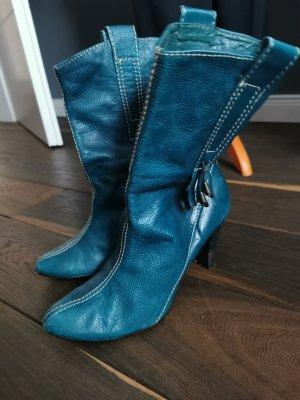 Zara Slouch Boots petrol