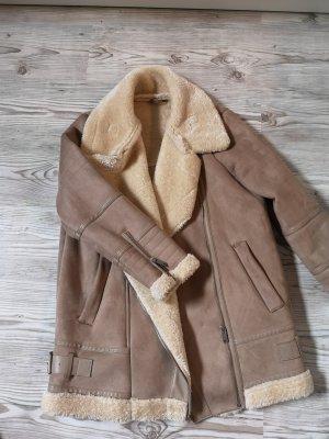 Zara Biker Jacket multicolored imitation leather
