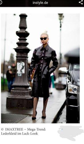 Zara Blogger Echt  Lederkleid Leder Blusen Kleid Mantel  Neu 229€