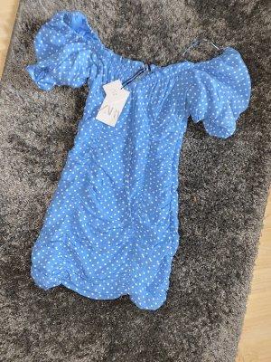 Zara Blogger Kleid (blau/weiß)