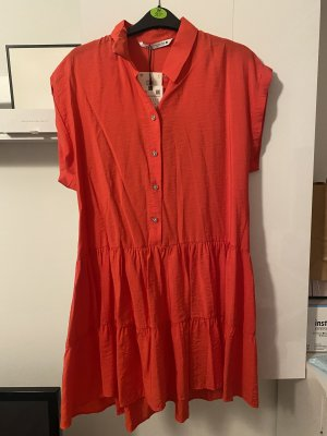 Zara Blogger Kleid S38 Korallenrot top