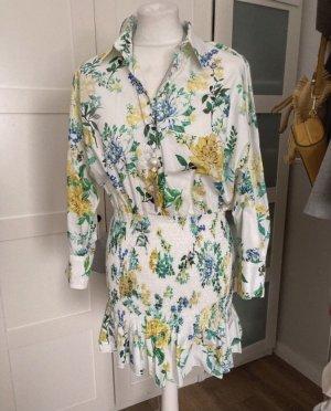 Zara Blogger kleid weissgemustert m 36 38
