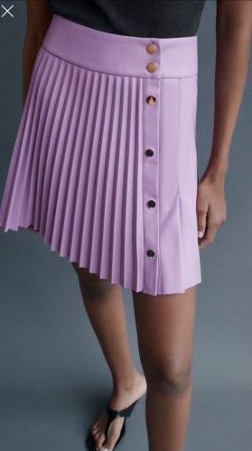 Zara Pleated Skirt purple