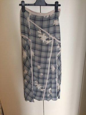 Zara Falda larga gris claro-azul celeste