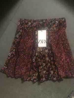 Zara Blogger Rock mini floral Blumen Muster patchwork
