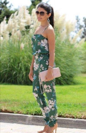 Zara Blogger Sommer Floral Overall Jumpsuit