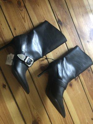 Zara Blogger Stiefel echtes Leder