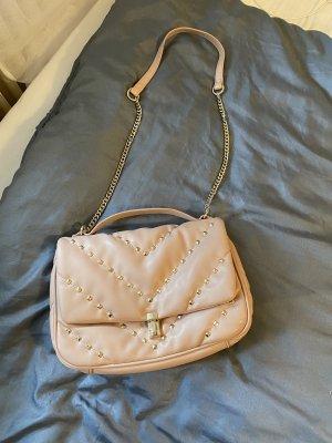 Zara Blogger Tasche mit Kette beige nude