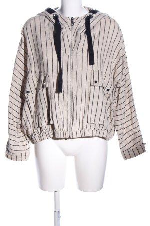 Zara Blouson blanc cassé-noir imprimé allover style décontracté
