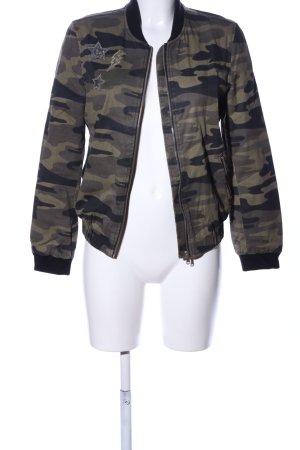 Zara Blousje khaki camouflageprint casual uitstraling