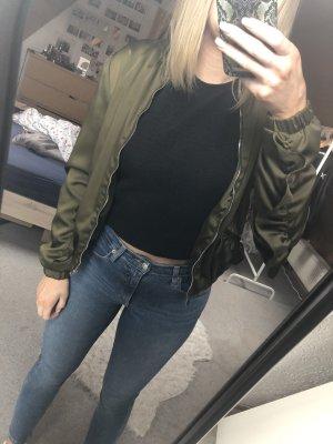 Zara Blouson in Khaki Größe S