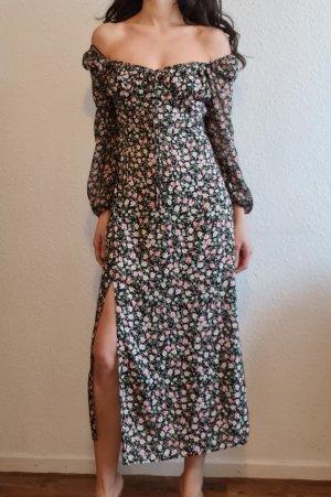 Zara Summer Dress black-apricot viscose