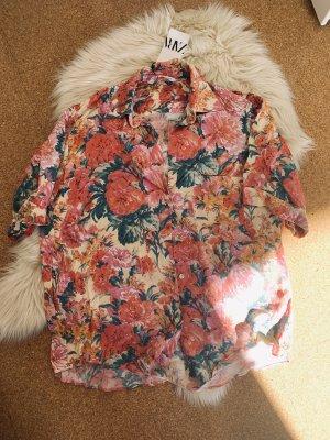 Zara Blumen Hemd