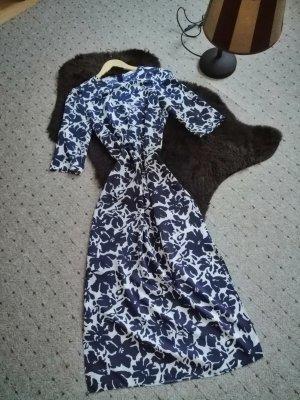 Zara Blumen Print blau & wiße