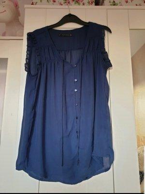 Zara Basic Blouse topje donkerblauw