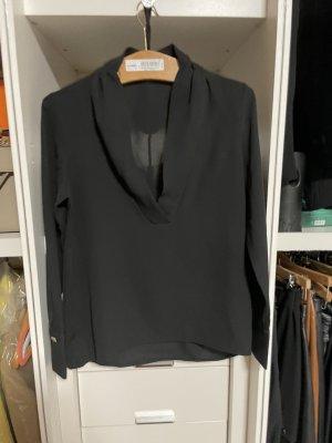 Zara Długa bluzka czarny