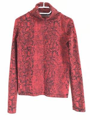Zara Colletto camicia nero-rosso scuro