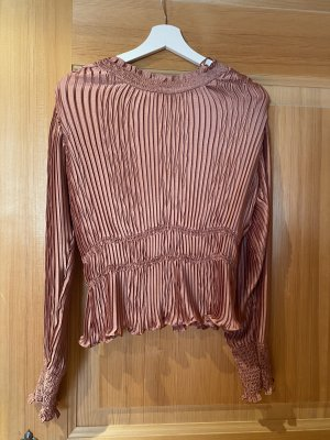 Zara Blouse brillante or rose