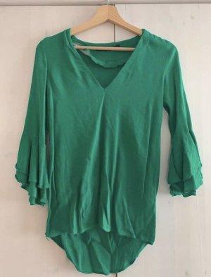 Zara Long Sleeve Blouse forest green