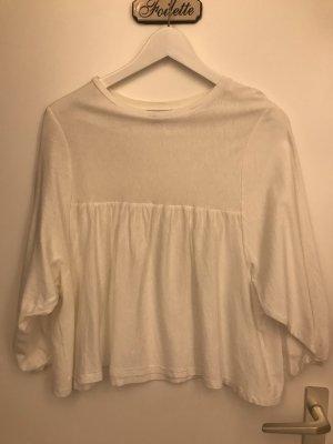 Zara Bluzka z długim rękawem biały