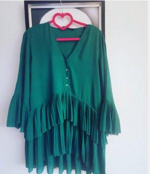 Zara Bluzka tunika morski-zielony