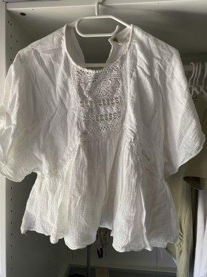 Zara Linnen blouse wit