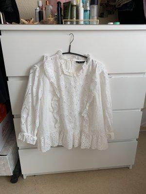 Zara Woman Bodysuit Blouse white