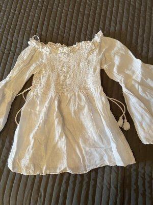 Zara Bluzka typu carmen biały