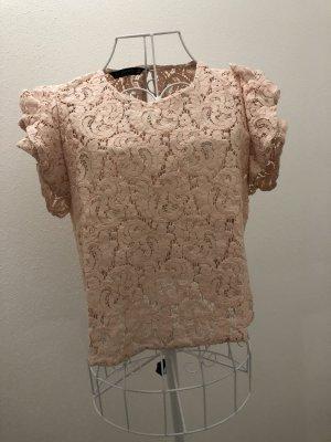 ZARA Bluse aus spitze rosa M 36 38