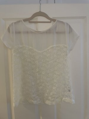 Zara Lace Blouse natural white-white