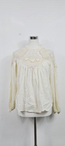 Zara/ Bluse/ Beige mit Spitze/ Größe M