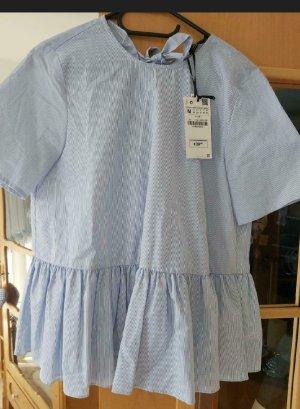 Zara Bluse,blau/weiß,Gr.M,neu
