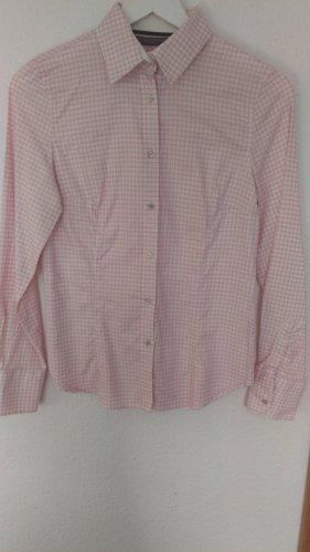 Zara Basic Camicia a maniche lunghe rosa pallido-bianco Cotone