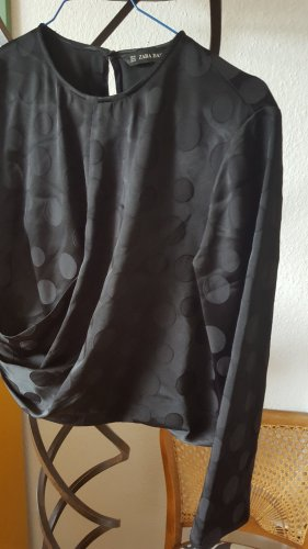 Zara Bluse Dots Punkte Ton in Ton Gr.36 (M)