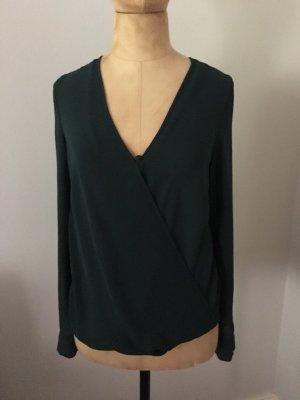 Zara Bluse dunkelgrün Gr. S top