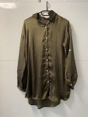 Zara Empiècement de blouses vert olive